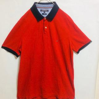 【ネット決済】トミーヒルフィガー ポロシャツ 赤 XL 古着
