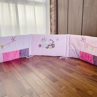 nattou ナチュー ベッドガード ピンク