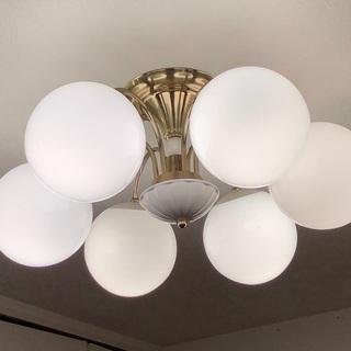丸型6灯 シャンデリア シーリングライト 白熱球