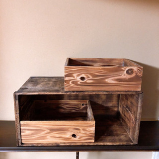 木箱 りんご箱の収納等に おもちゃ入れや 色々とお使い頂けます。