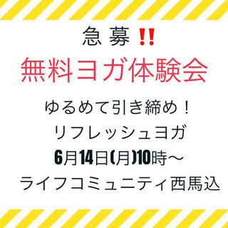 急募❣️無料ヨガ体験会参加者募集🧘♀️6/13正午までの画像