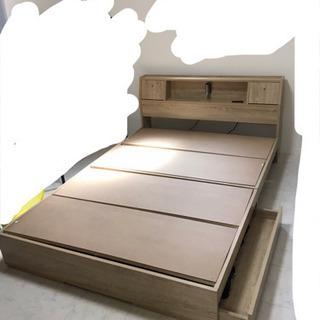 【組み立て式】ベッドフレーム  ダブル