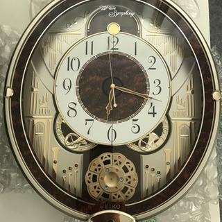掛け時計 電波時計 からくり時計 RE568B セイコークロック...