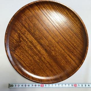 【ネット決済】木製漆器 丸盆 24センチ