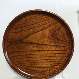 【ネット決済】木製丸盆 21センチ