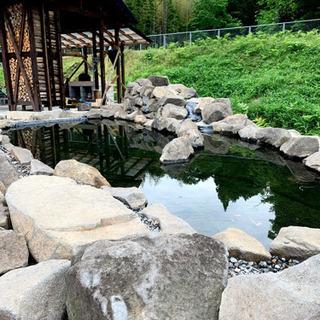 ブラック×グレー モダン砂岩 庭石 池作り 石垣 天然石 DIY