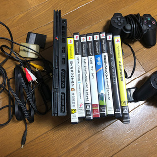 PlayStation2 本体 ソフト8本 メモカ付