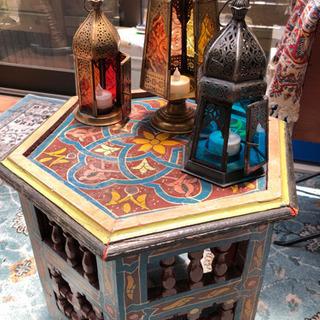 【ネット決済】六角形のトルコの台座とアラビア/インド風のキャンド...
