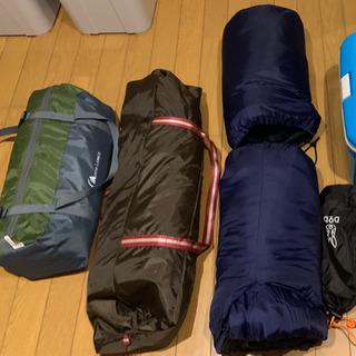 テント、タープ、寝袋