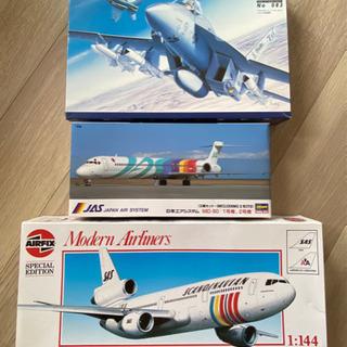 最終💦ジャンク扱:3つの飛行機プラモデル
