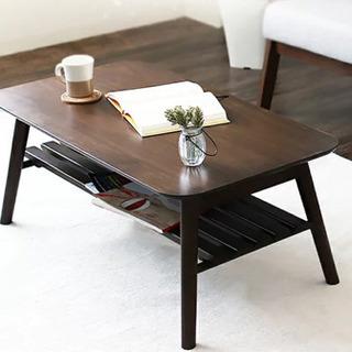 ローテーブル 机 ブラウン 折りたたみ可能