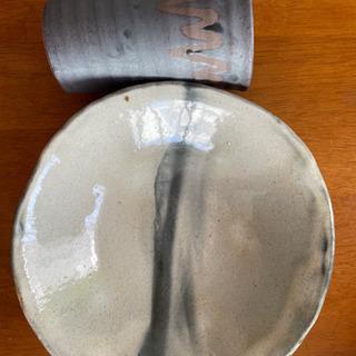 【未使用】信楽焼き MAORI 大皿 タンブラー