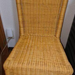 籐(ラタン)椅子2脚セット