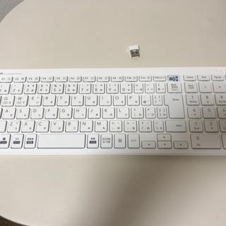 【ジャンク】エレコム USBキーボード TK-FDP099TWH