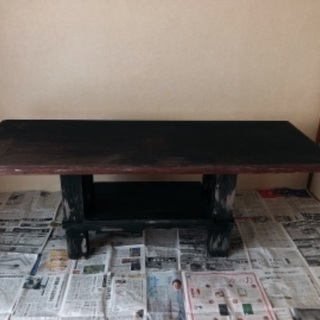 【6/20まで無料!】木製ダイニングテーブルもらってください - 家具