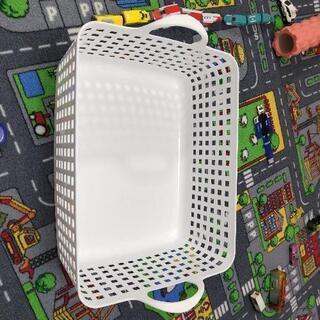 長方形のゴムカゴ 洗濯カゴ