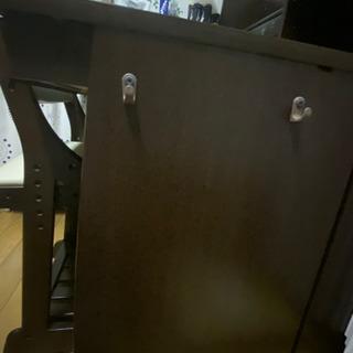【お話し中】学習机(ブラウン) - 家具