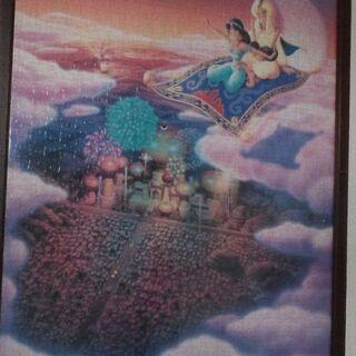 ディズニー アラジンのパズル 木製額縁付き