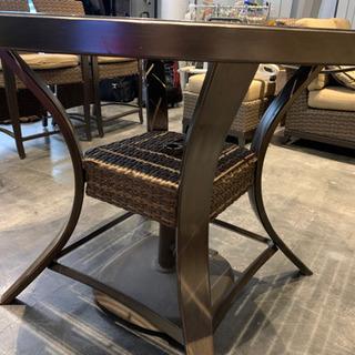 ガーデン テーブルセット 円テーブル&チェア4脚セット