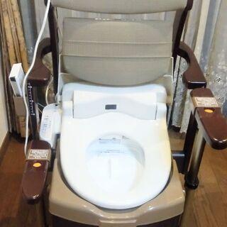 【ネット決済】家具調ポータルトイレ。ウォッシュレット機能付き