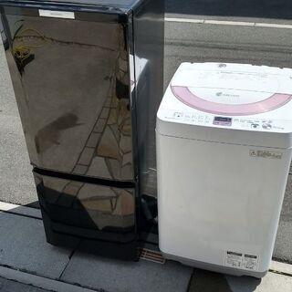 ☆★配送料無料★☆洗濯槽も清掃済み♪三菱146L冷蔵庫とシャープ...
