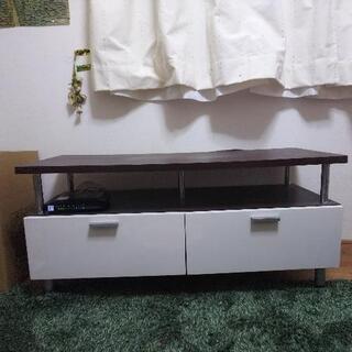 テレビ台(白×茶)