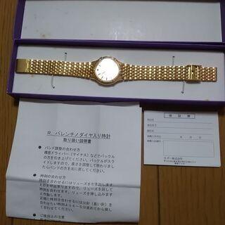ルッキーノ ヴァレンチノ ダイヤ入り婦人腕時計 未使用電池…