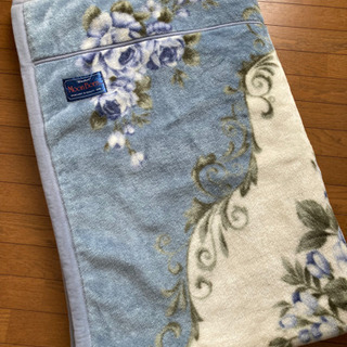 【ネット決済】2枚合わせ毛布 ブルー系