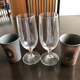 【ネット決済】ビアグラスアンド焼き物ビアカップ