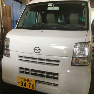 マツダ スクラム ホワイト バン 26年車!!車検付き!!
