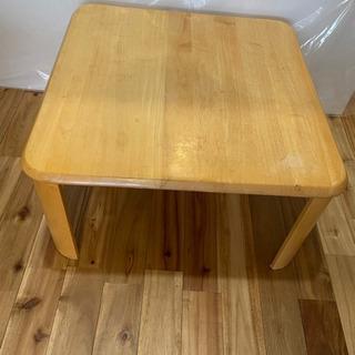 【6/18まで】折り畳み天然木ローテーブル