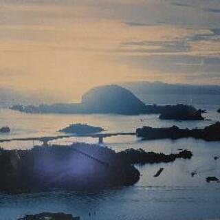 離れ小島 の 写真  ポスター