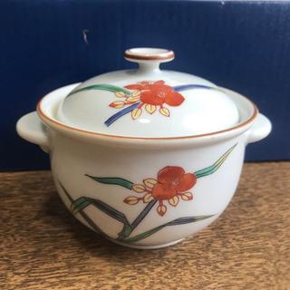特選有田焼 シチュー鉢 3つ 蓋付き 露草 小鉢 器 陶器