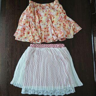 女児、夏物スカート