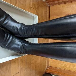 冬物処分☆ingブーツ(黑)23.5cm