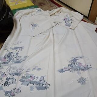 白の正絹着物