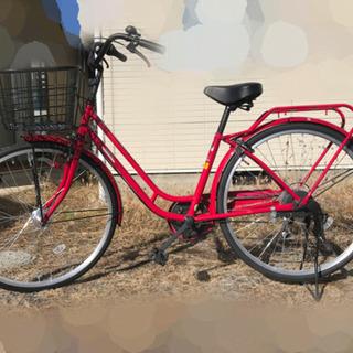 【ネット決済】自転車 6段変速付き!オートライト!