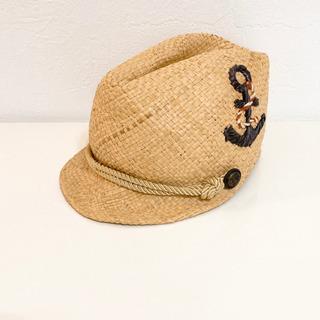 麦わら帽子みたいな 中折れキャップ