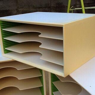 【1つ】高さ17×34.5×25.5㎝ カルテ棚 書類棚 机上 ...