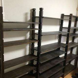 DIY 本棚 大容量幅2.6m & 21段