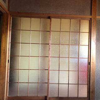 室内建具 木製ガラスの引き戸 (戸車付き)