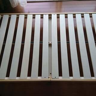 ■【引取】美品 シングルベッド すのこ 天然木の無垢材 12mm...