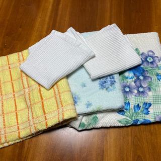【洗濯済】バスタオル3枚とワッフルタオル2枚のセット