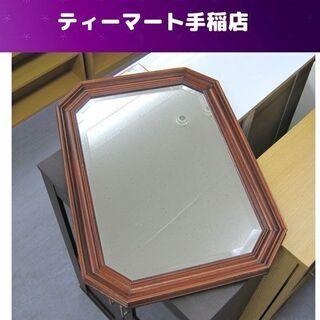イタリア製 壁掛けミラー 鏡&木枠 欧州アンティーク調家具 札幌...