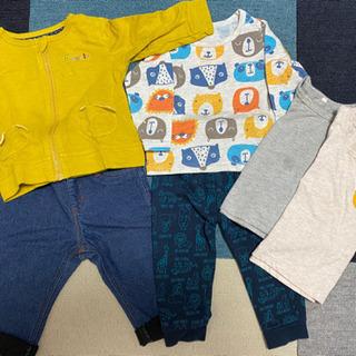 【子供服】冬服セット サイズ80 アウター1着 長袖3着 長ズボン2着