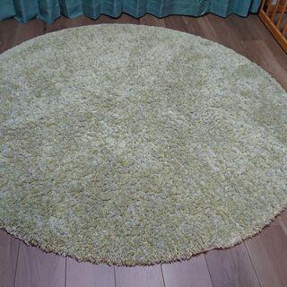 【ほぼ新品】カーペット(円形160cm・緑)