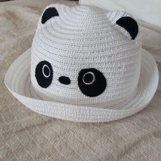 パンダの麦わら帽子