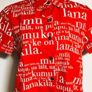 【ネット決済】【新品未使用】赤の英字半袖Tシャツ