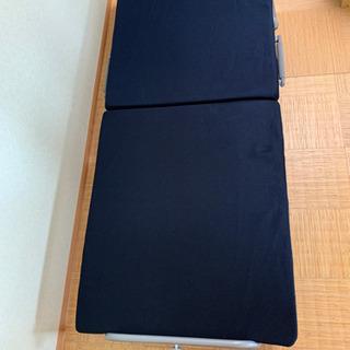 【ネット決済】ニトリ シングル折り畳みベット マット付き