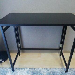 【新品】折りたたみ式 デスク テーブル 80×40×70(…